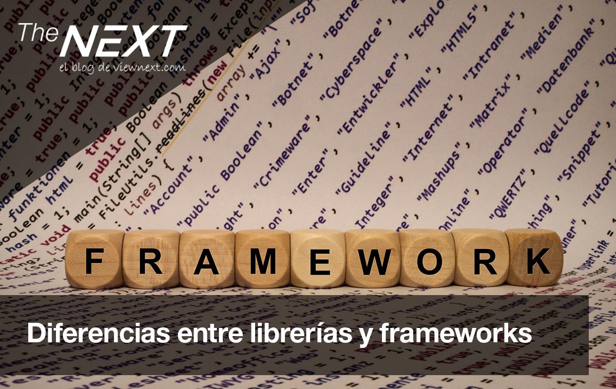 Diferencias entre librerías y frameworks