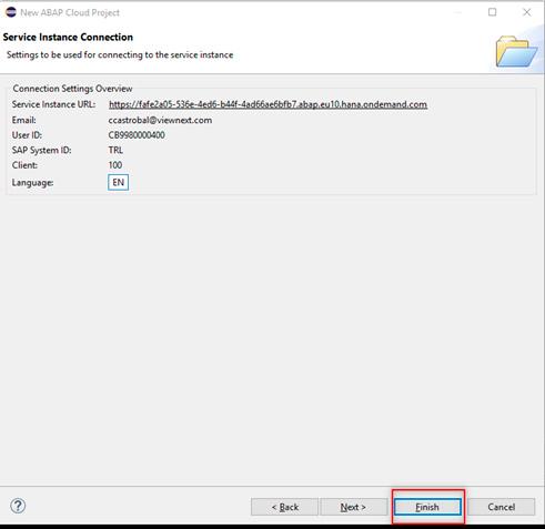 Pantalla 21 Cómo crear tu entorno SAP en la nube para programar