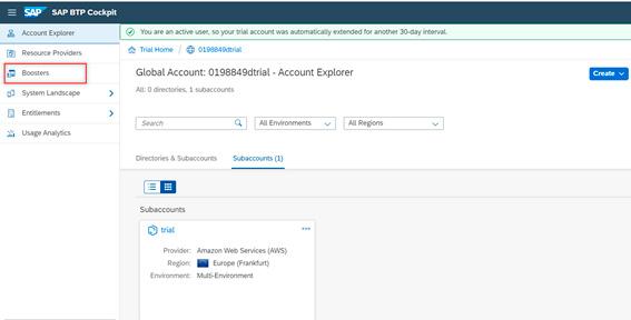 Pantalla 3 Cómo crear tu entorno SAP en la nube para programar
