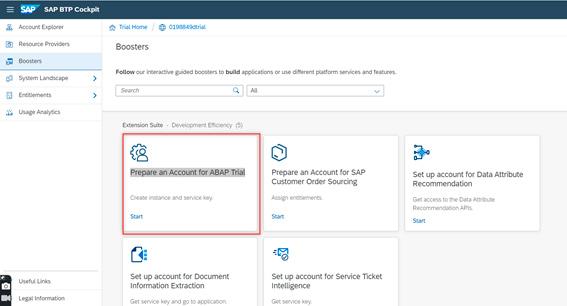 Pantalla 4 Cómo crear tu entorno SAP en la nube para programar